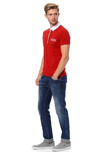 Fabrika Polo Yaka Tişört Kırmızı